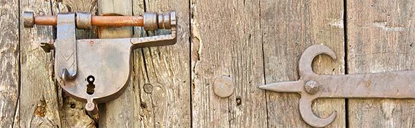 Roest slot en sleutels